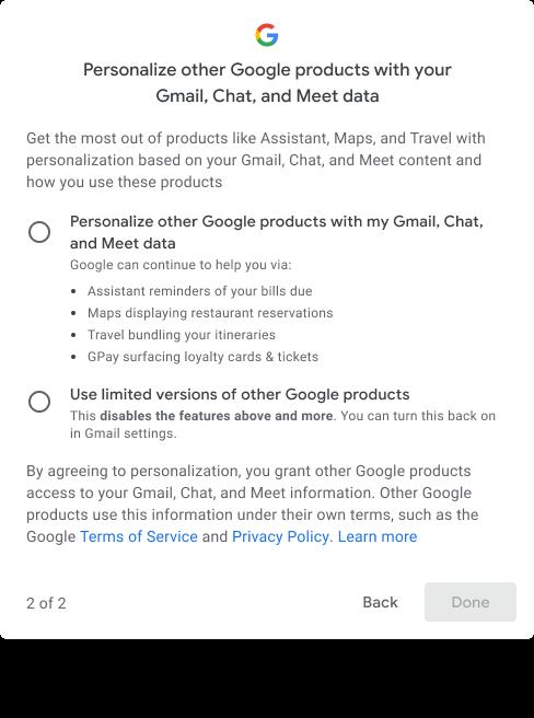 gmail smart features deaktivieren 2