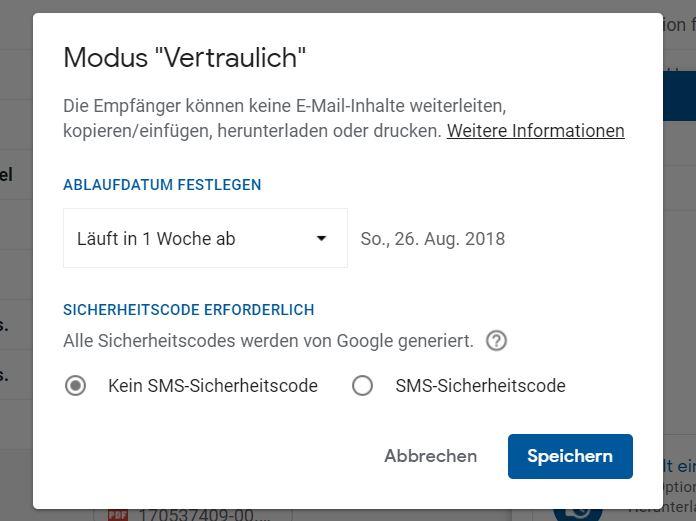 gmail vertraulich