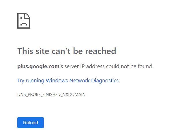 googleplus fehler
