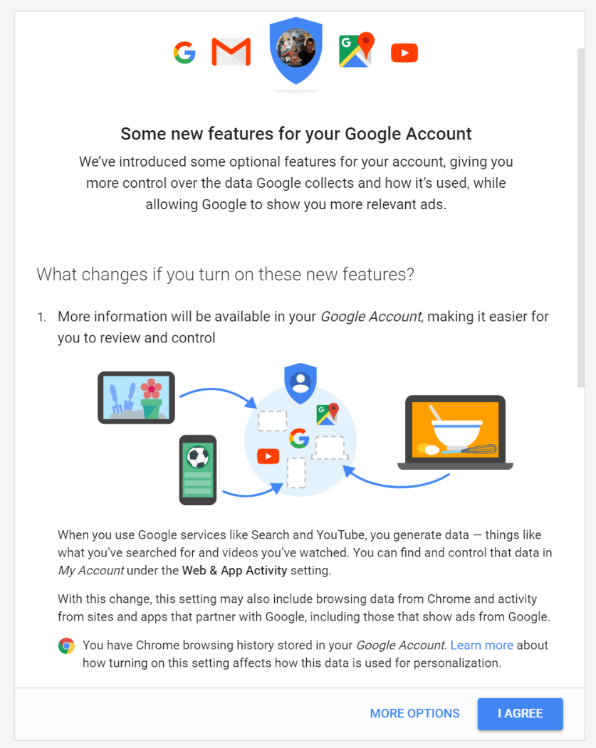 google account abfrage