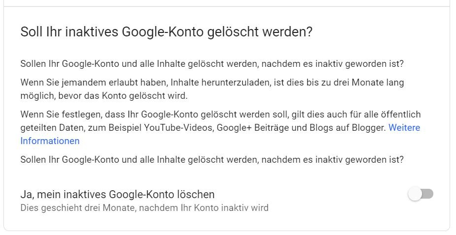 google account inactive 3