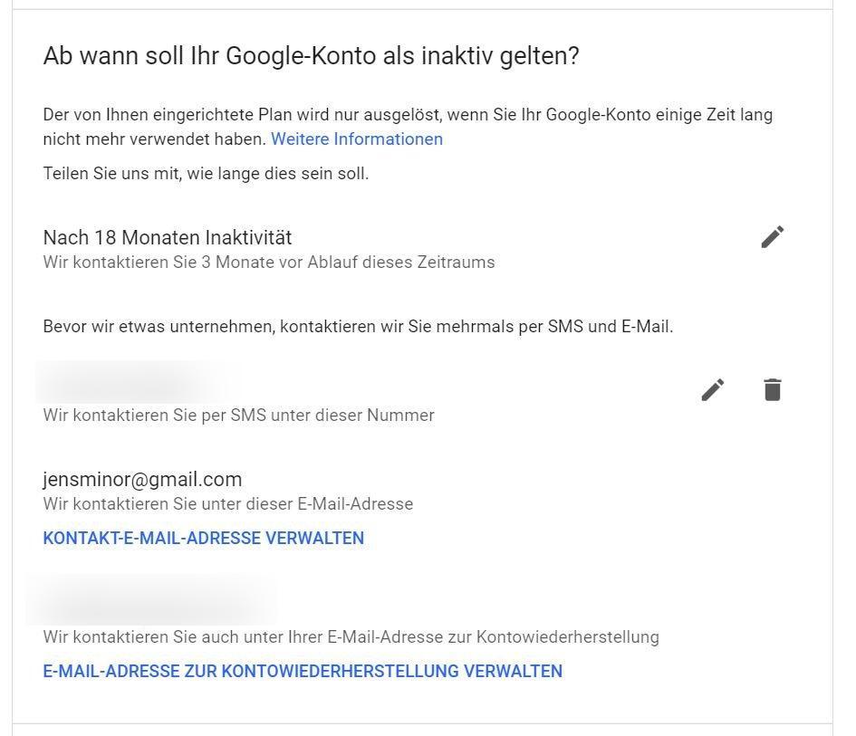 google-account-inactive mail