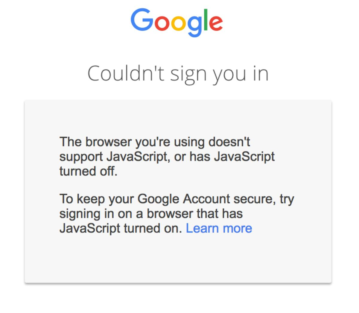 google account javascript