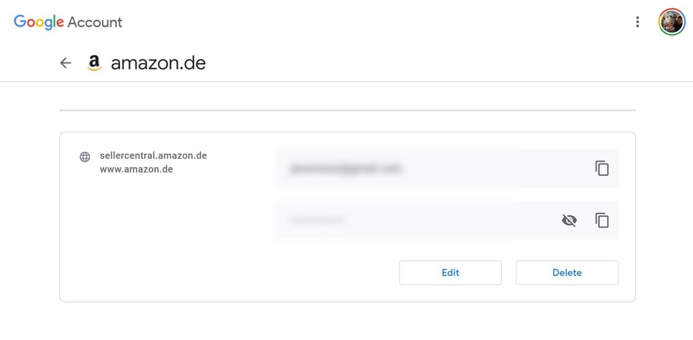google account passwords
