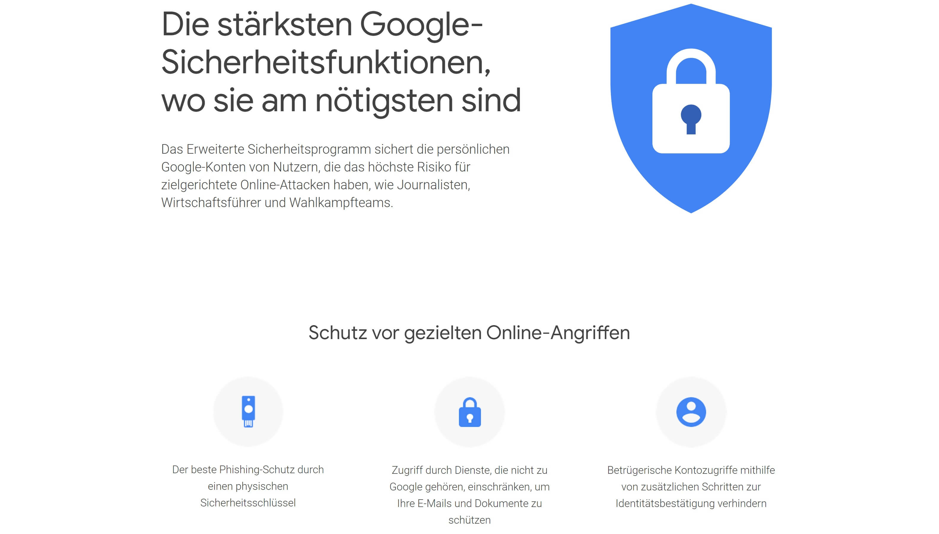 google account schutz