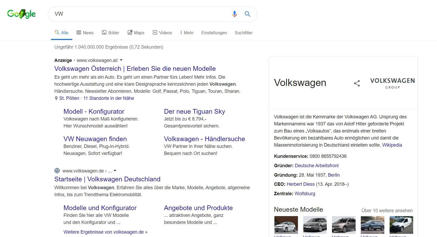 google ads und suchergebnisse