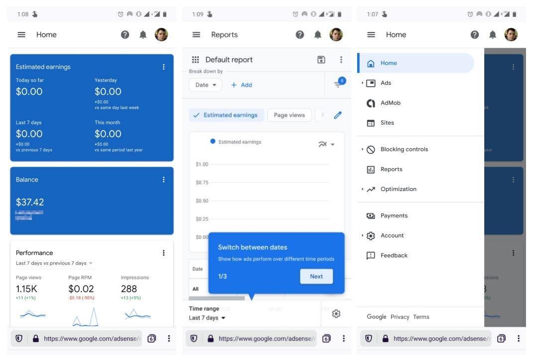 google adsense new mobile design