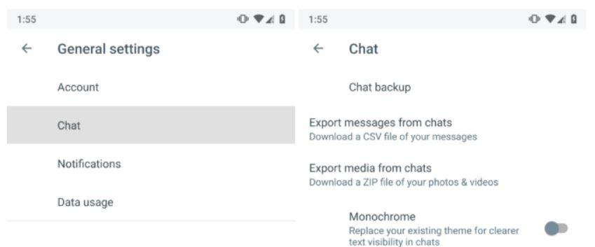 google allo export