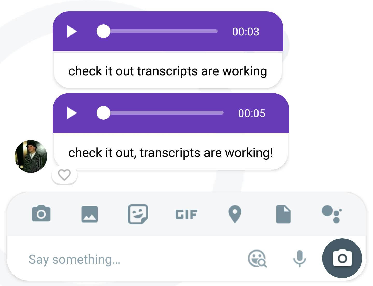 google allo voice transcript