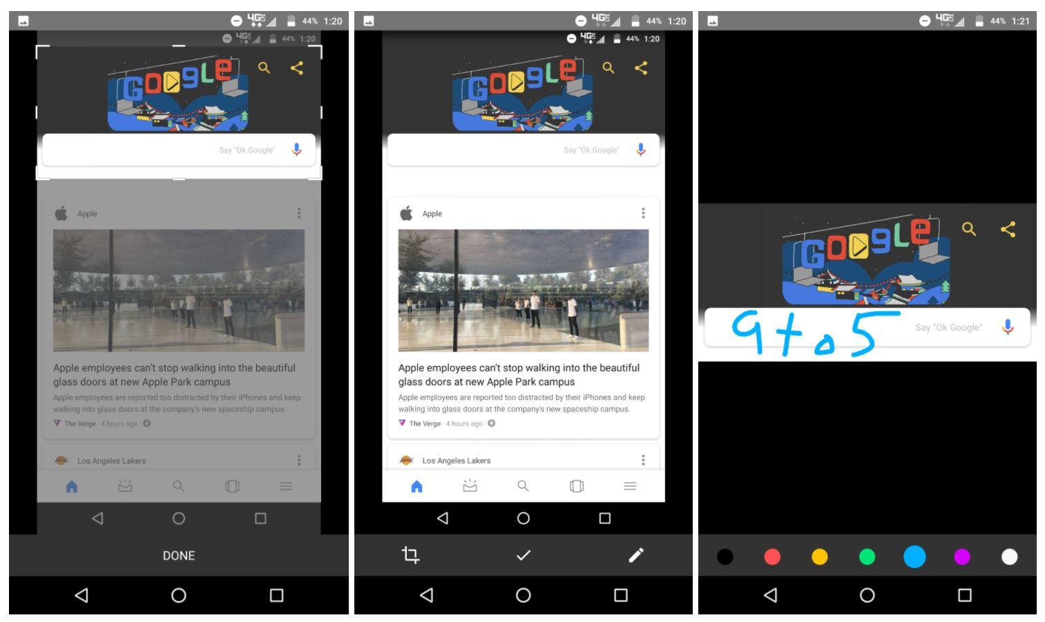 Google App Screenshots Erstellen und Bearbeiten