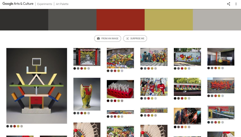 google arts and culture art palette