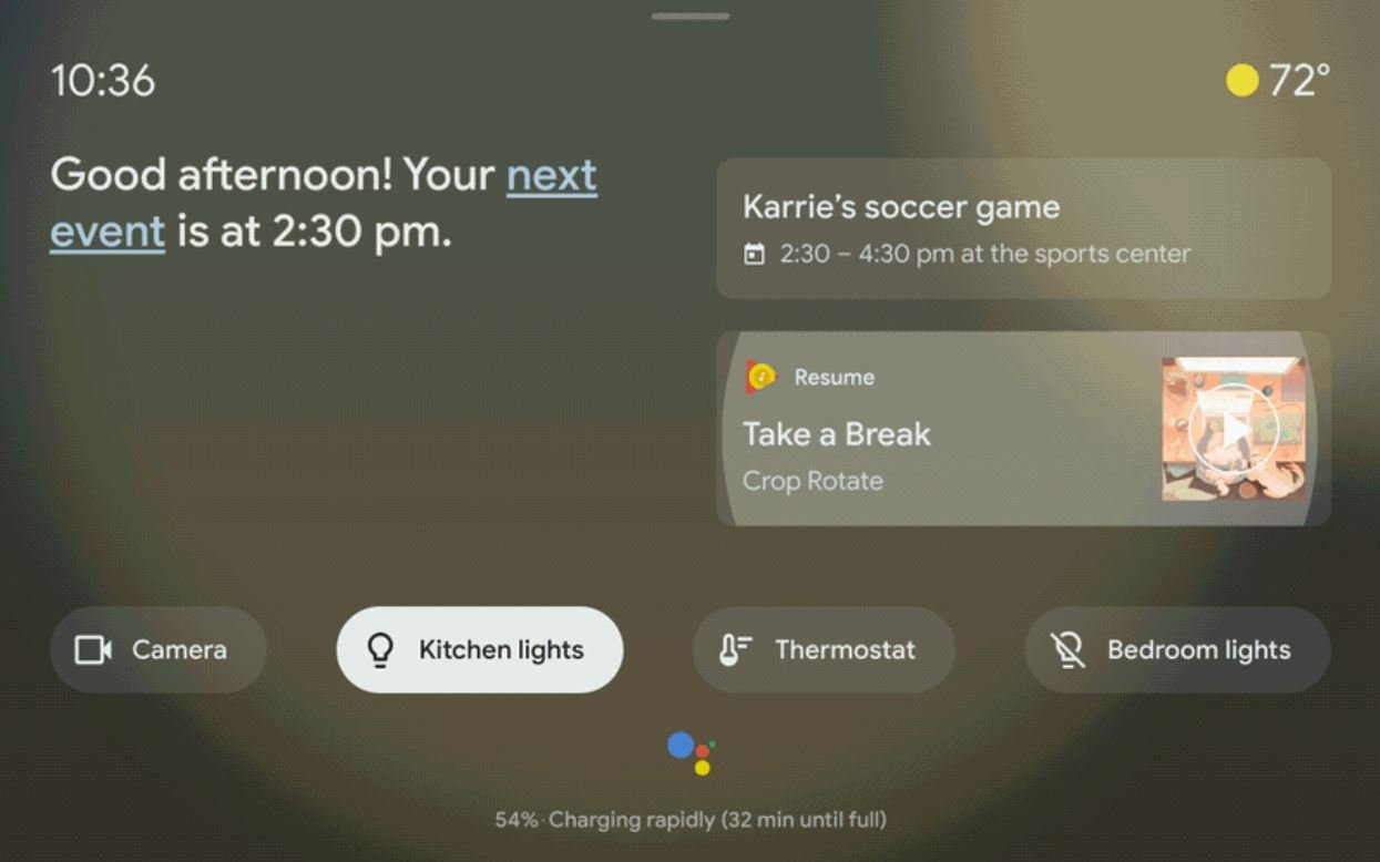 google assistant ambient mode ui