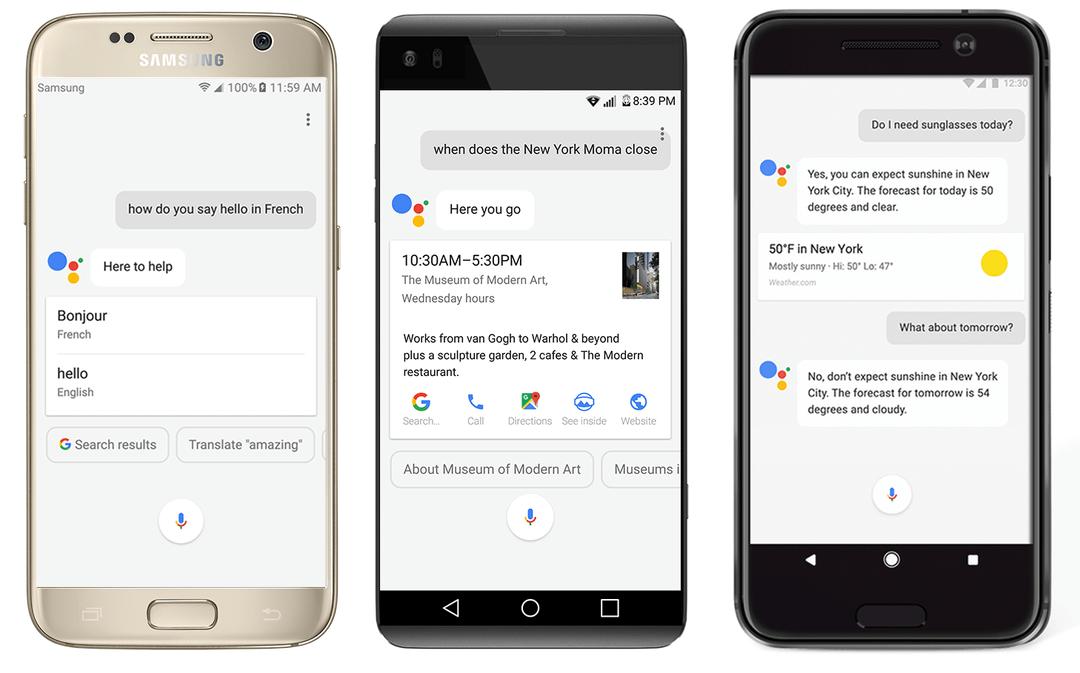 google assistant andere smartphones