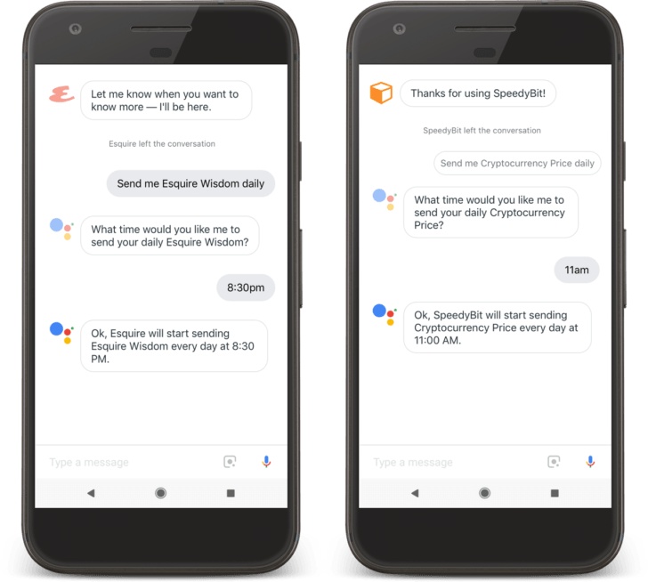 google assistant benachrichtigungen