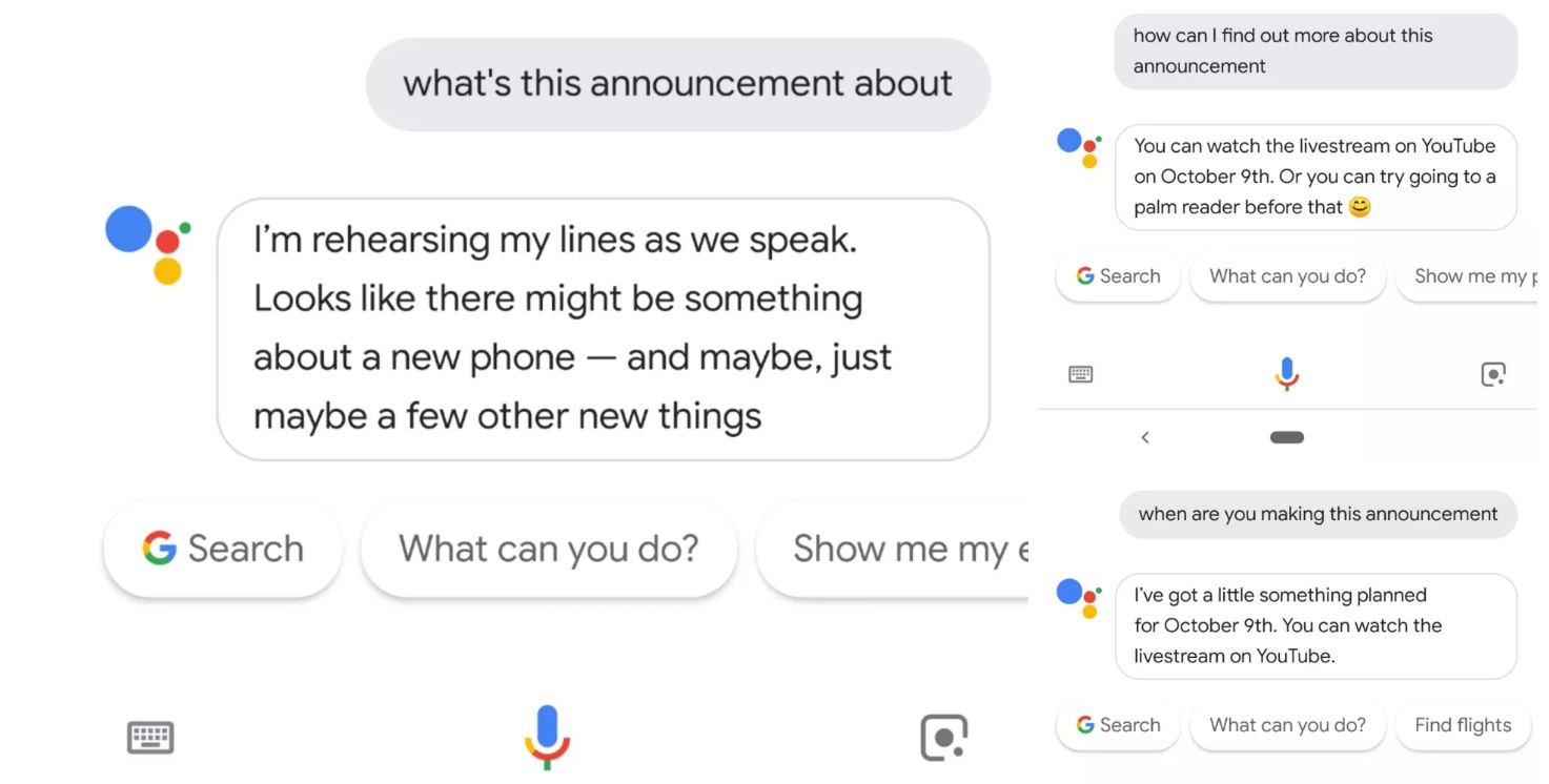 google assistant event