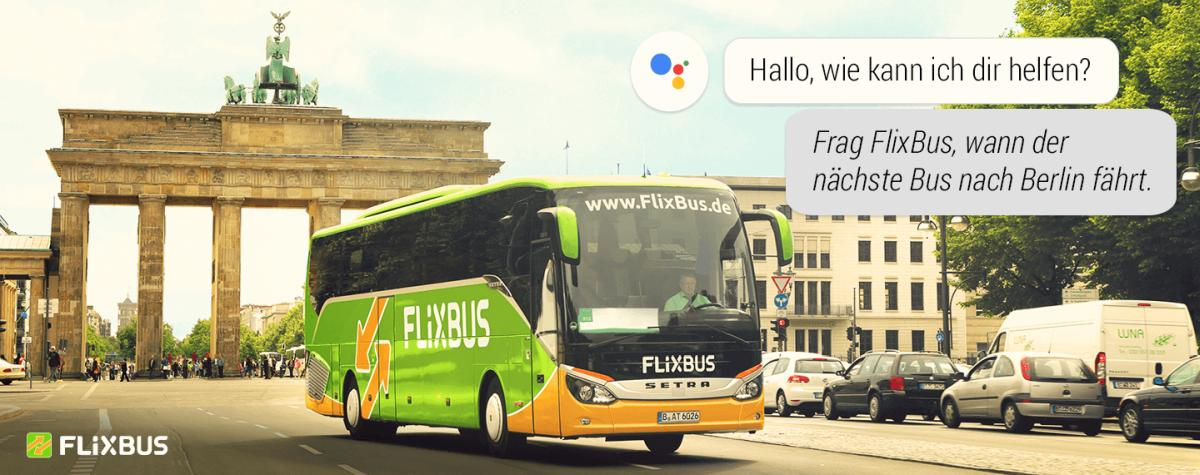google assistant flixbus