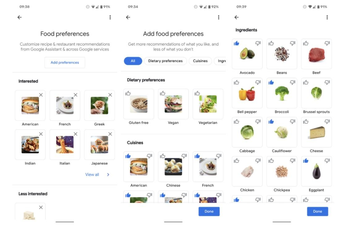 google assistant food