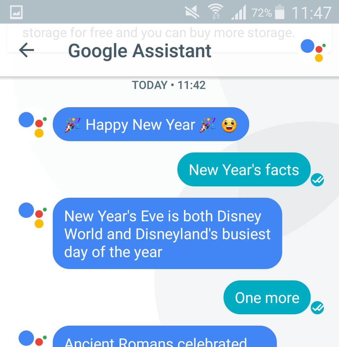 Google Assistant Happy New Year