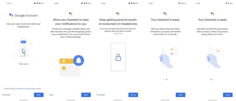 google assistant kopfhörer