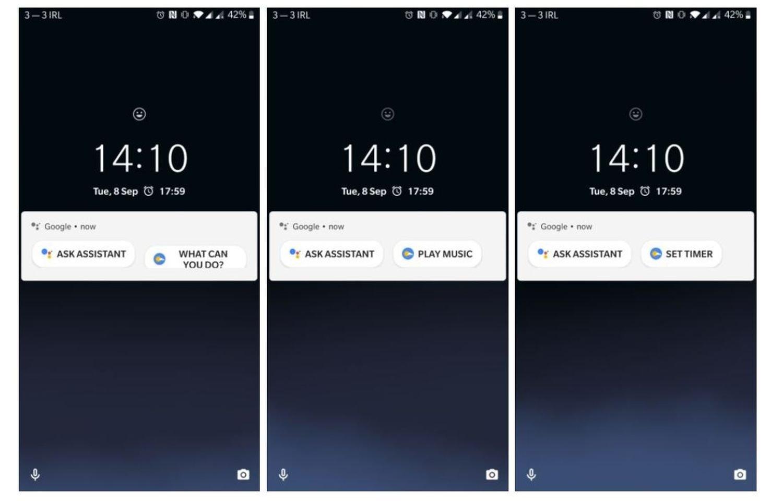 google assistant lockscreen