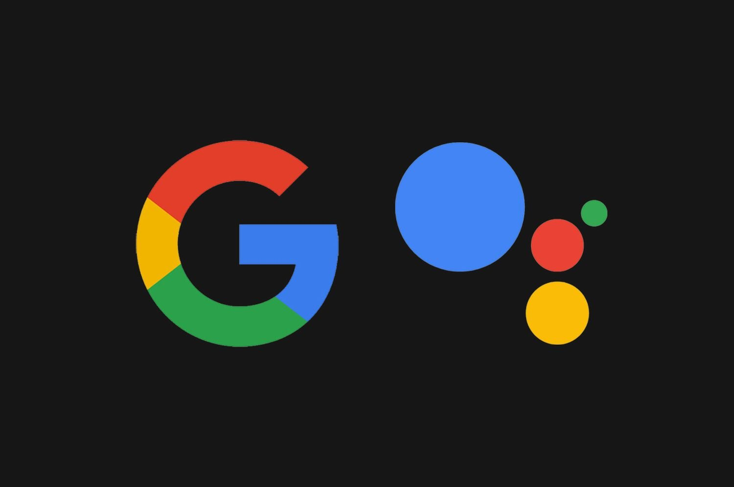 google assistant logo dark
