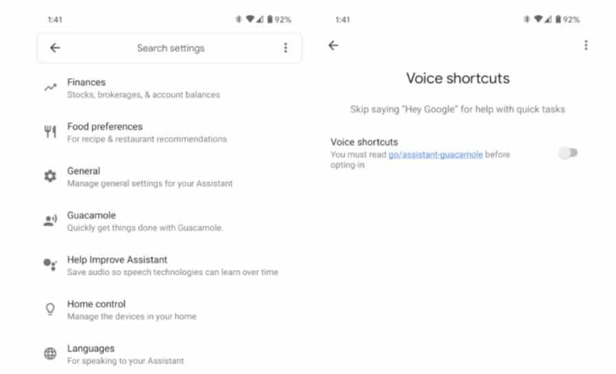 google assistant ohne hey google