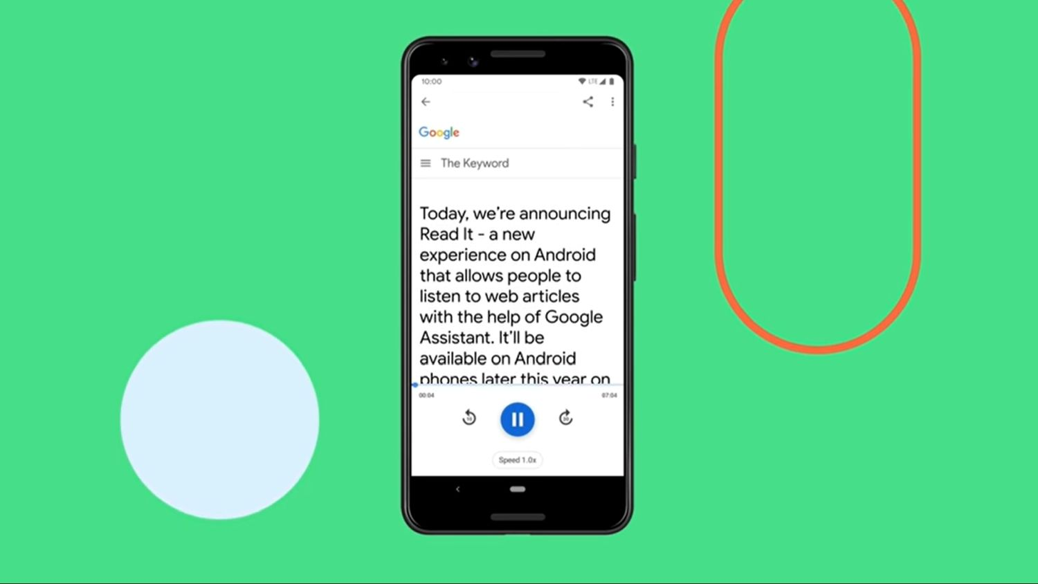 google assistant read it