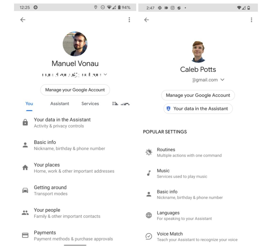 google assistant settings 1