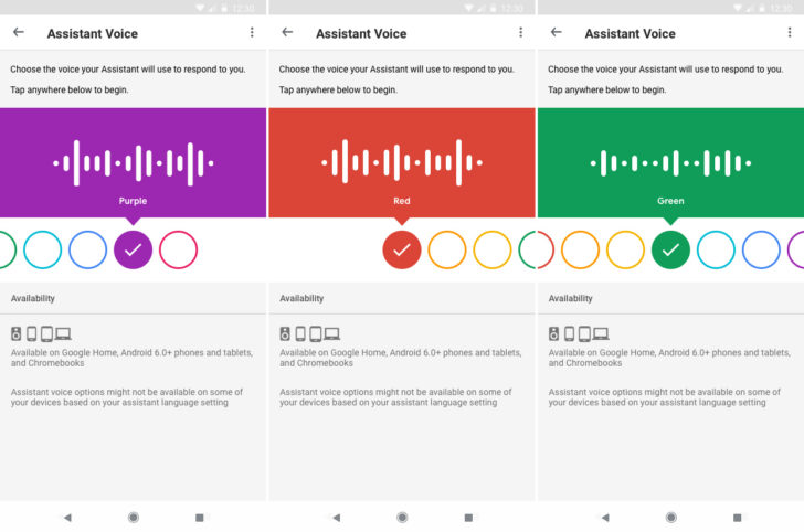 google assistant voice