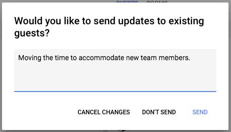 google calendar änderung
