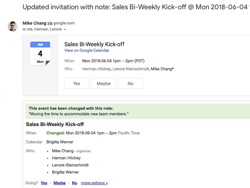 google calendar begründung