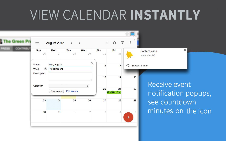 google calendar checker chrome extension