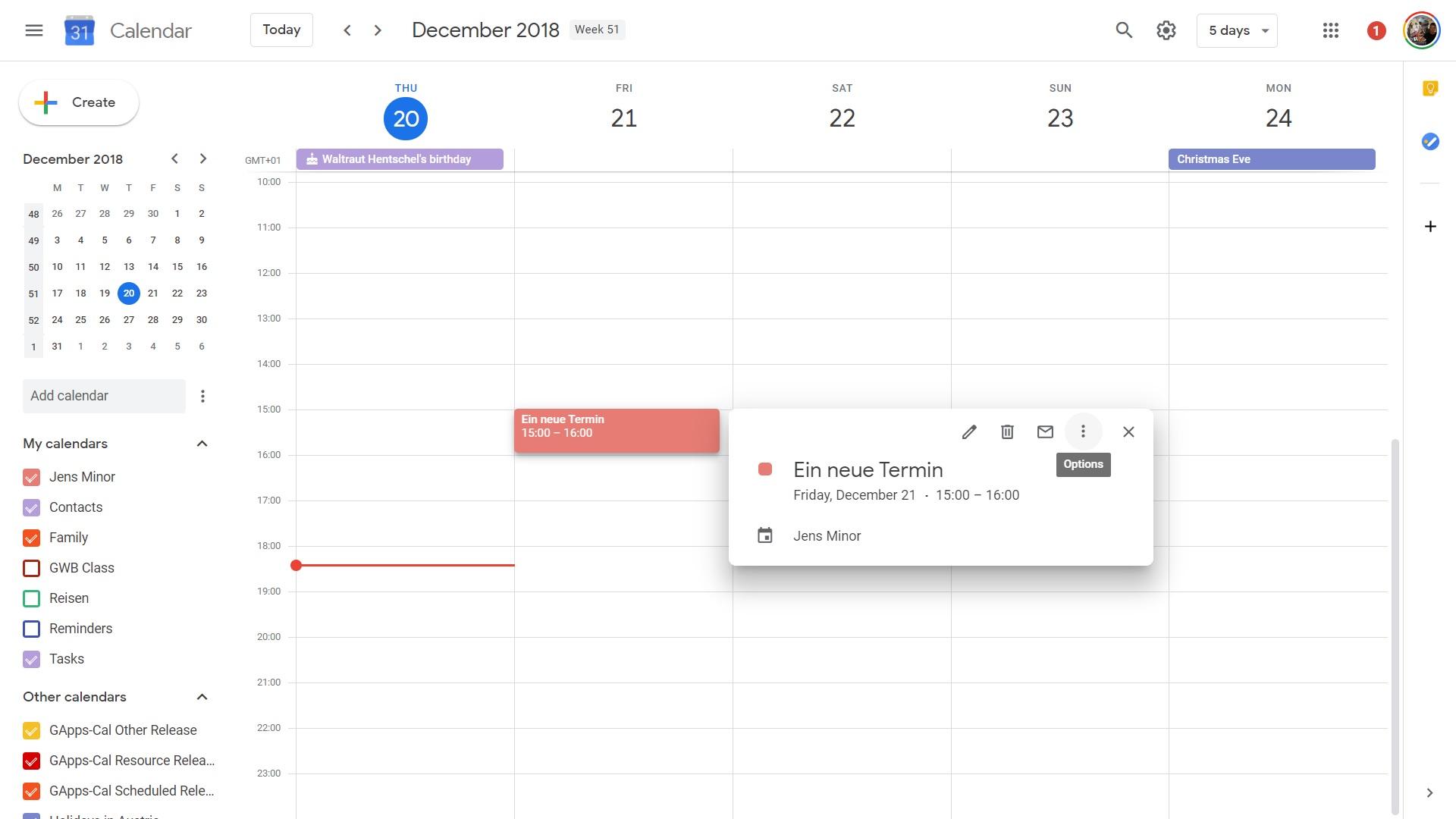 google calendar design