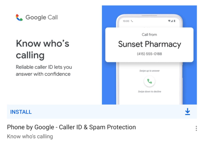 google call google telefon app