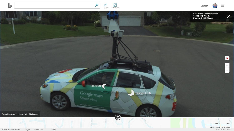 google car bing maps new
