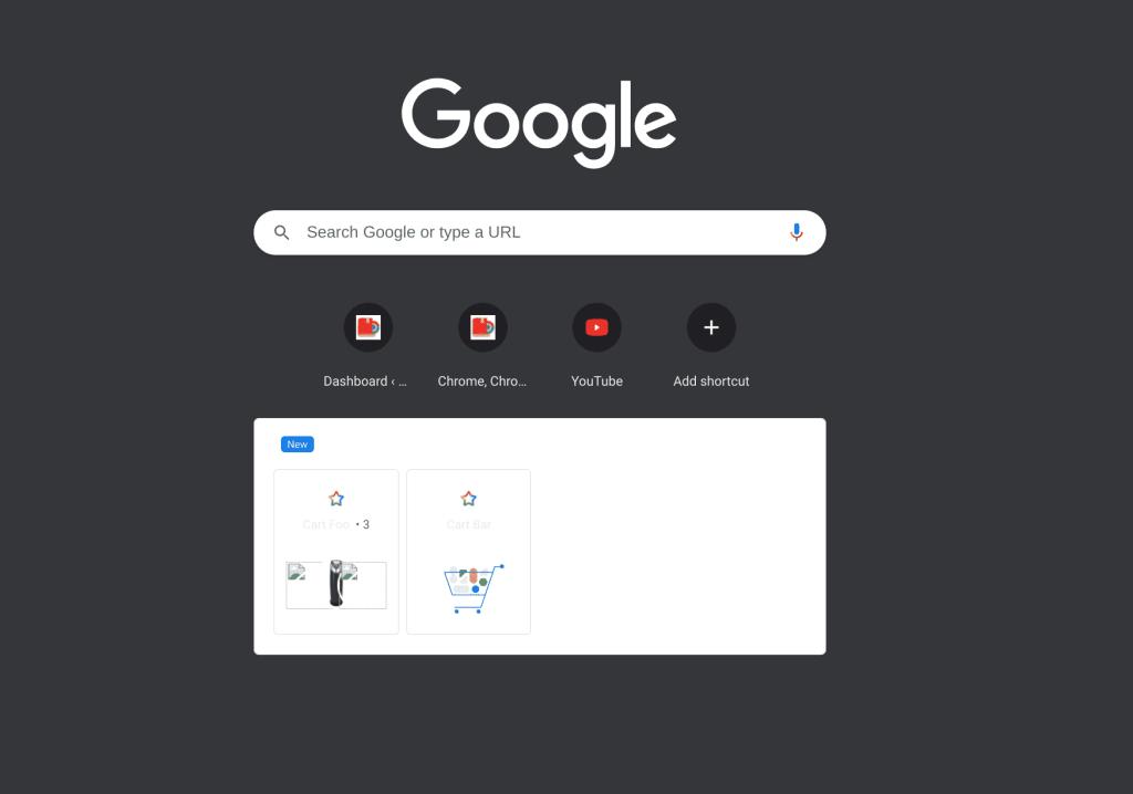 google chrome cart