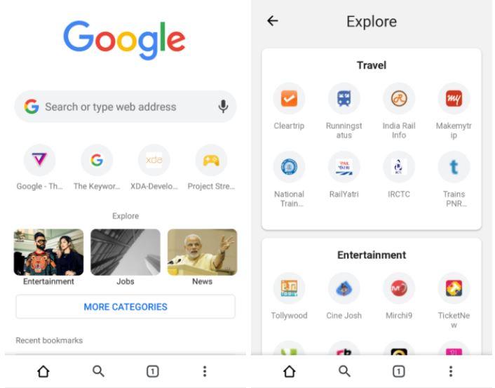 google chrome explore
