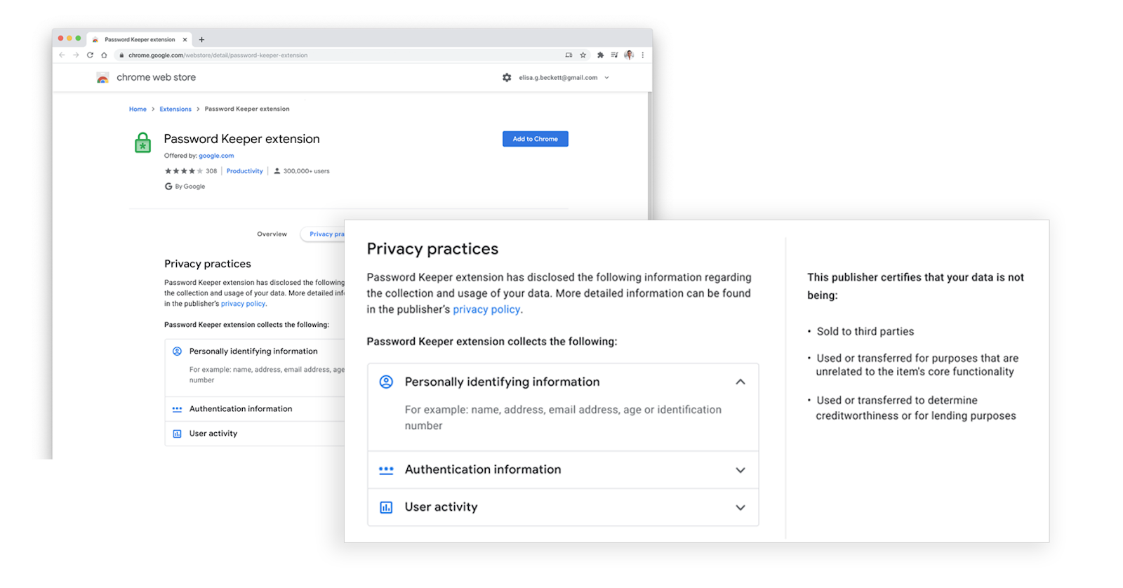 google chrome extension datenschutz