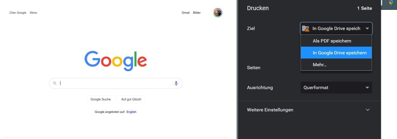 google chrome in google drive speichern