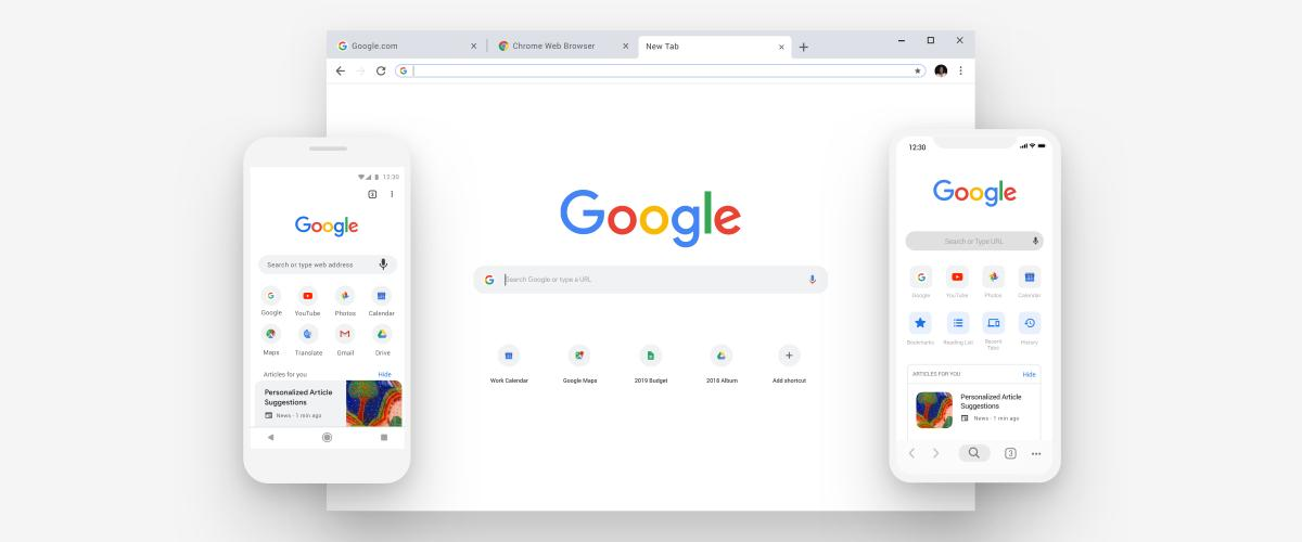 google chrome new design