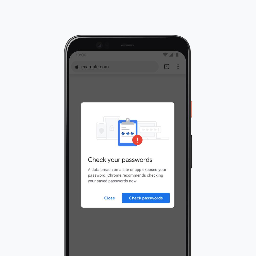 google chrome password checkup