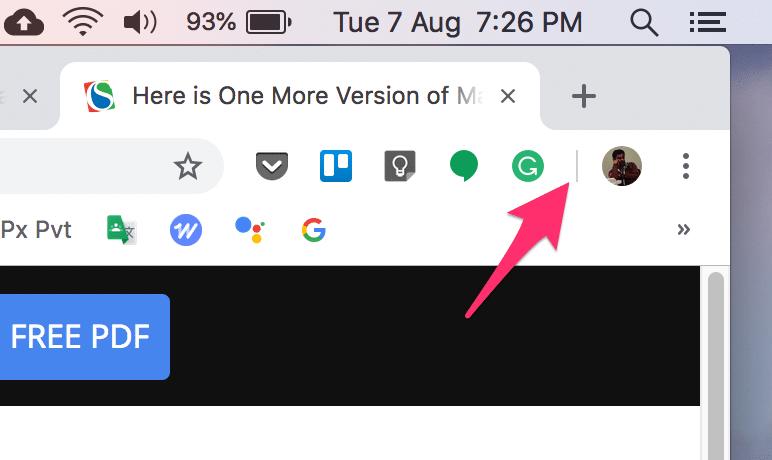 google chrome trusted area