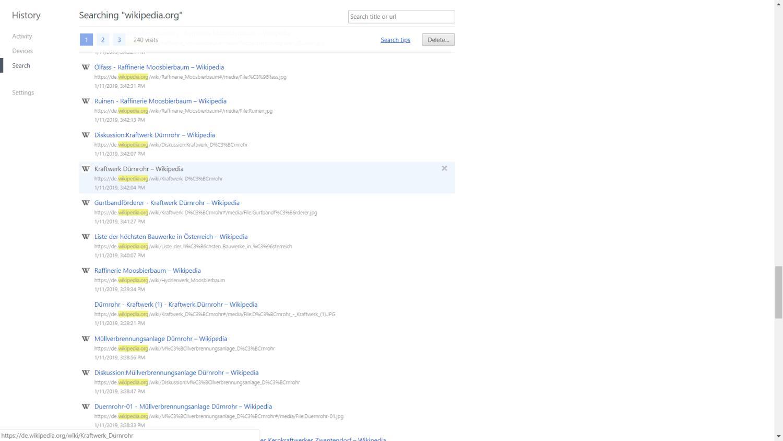 google chrome verlauf neu