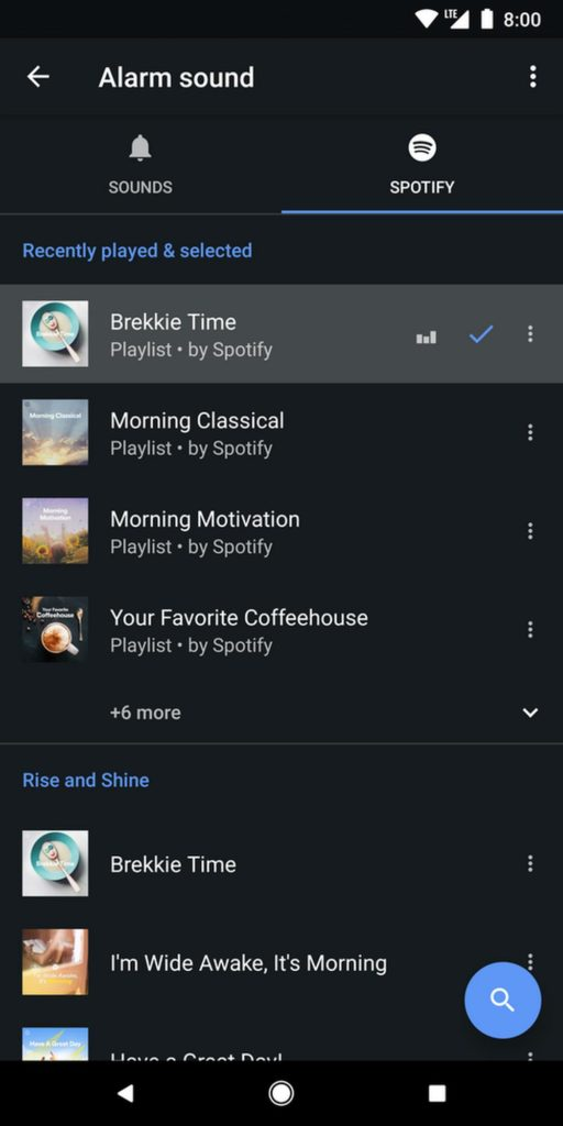google clock playlist