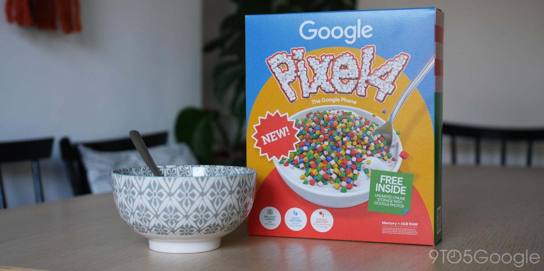google cornflakes pixel 4