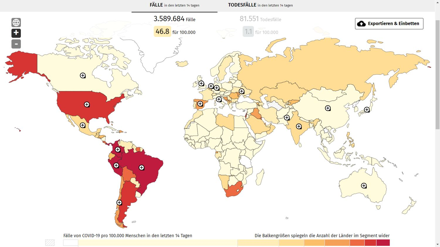 google coronavirus global map