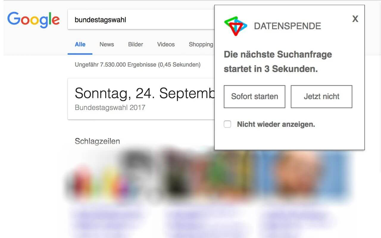 google datenspende