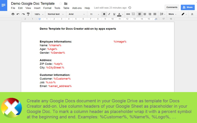 google docs serienbrief