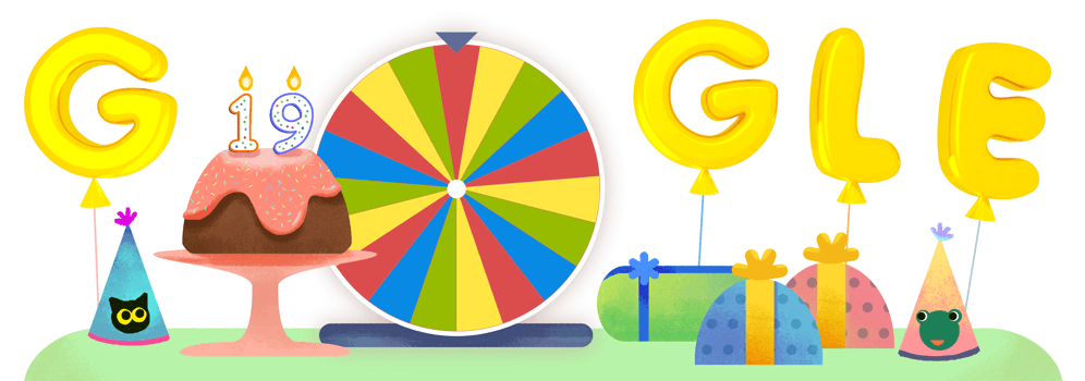 google doodle 19 jahre google
