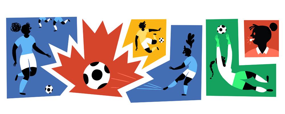 google doodle Beginn der Fußball-Weltmeisterschaft der Frauen 2015